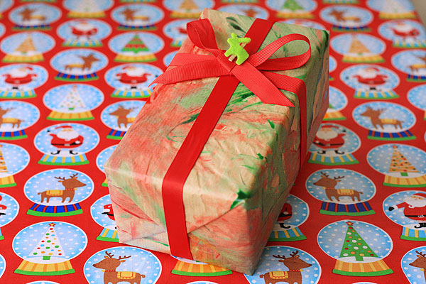 Finger painting Wrapping Paper