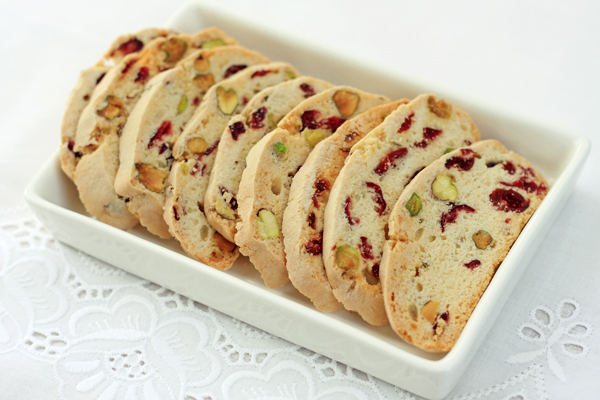 Cranberry and Pistachio Biscotti - Things for Boys