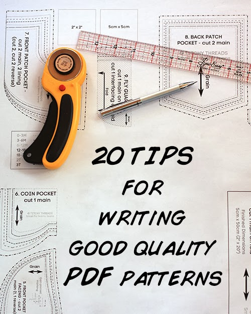 20 Tips for Writing Good Quality PDF Patterns