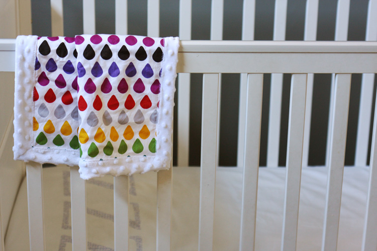 Mitered Minky Snuggle Blanket Tutorial