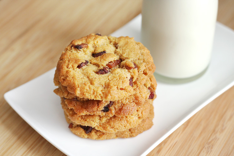 Gluten Free Peanut Butter and Bacon Cookies - Things for Boys