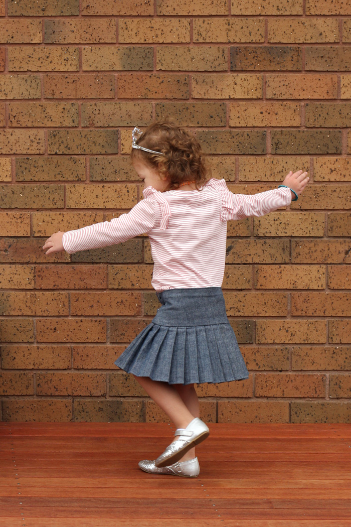 Great for twirling! Schoolday Skirt by Blank Slate Patterns sewn by Things for Boys