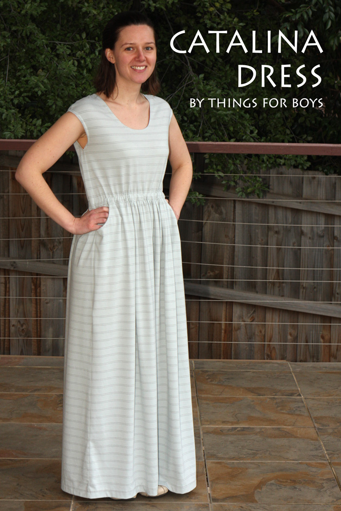 Comfy Catalina Dress by Blank Slate Patterns sewn by Things for Boys